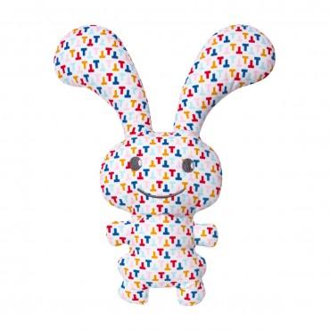 "Funny Bunny Doudou Hochet - ""T"" Multicolor 24Cm"