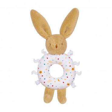 Bunny rattle Ring - Stars 12Cm