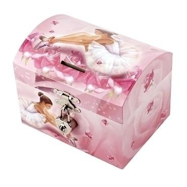 Tirelire à Musique Ballerine - Rose - Figurine Ballerine