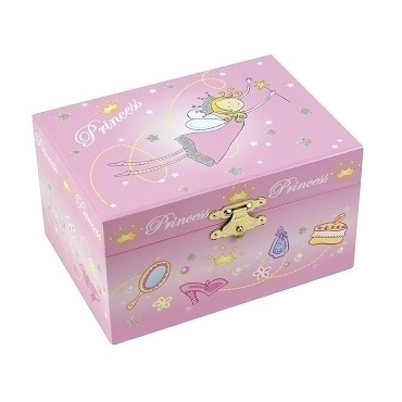 Coffret Musical Princesse - Rose - Figurine Princesse