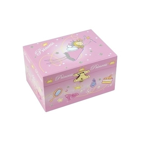 Coffret Musical Princesse - Rose - Figurine Princesse