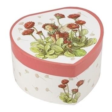 Grand Cœur Musical Fée Fleurs Rouges - Flower Fairies© - Figurine Fée