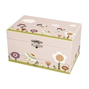 Musical Jewelry Box Ninon & Nioui In Garden - Figurine Fairy