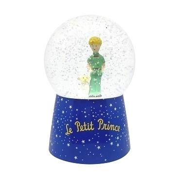 Night Light Snow Globe with Music Little Prince© - Batteries included
