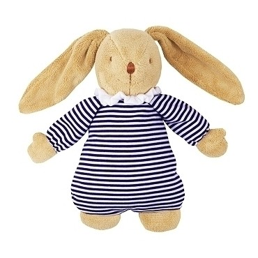Musical Bunny Fluffy Navy Stripes 25Cm