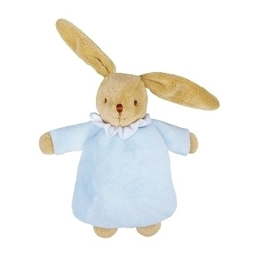 Soft Bunny Fluffy w/Rattle Blue 20Cm