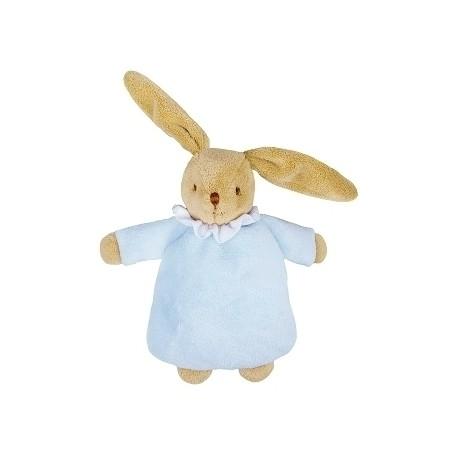 Soft Bunny Fluffy w/Rattle Blue 20Cm