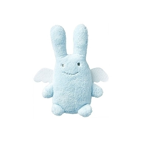 Angel Bunny Comforter with Rattle Blue 20Cm