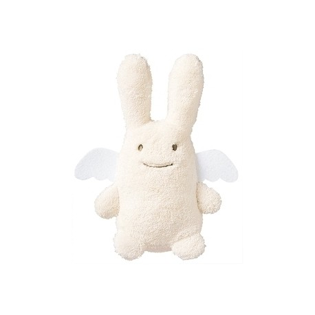 Angel Bunny Comforter with Rattle Ivory 20Cm