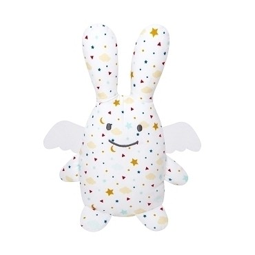 Angel Bunny Comforter with Rattle Stars 20Cm