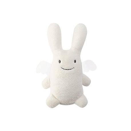 Ange Lapin Doudou Musical - Ivoire 24Cm