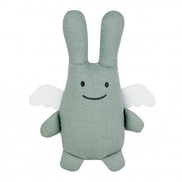 Angel Bunny Comforter 20Cm - Celadon Green Linen