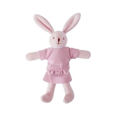 Bunny w/Rattle Navy Pink 20Cm