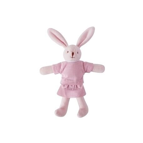 Bunny w/Rattle Navy Pink 20Cm