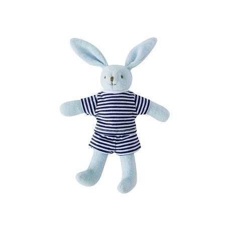 Bunny w/Rattle Navy Blue 20Cm