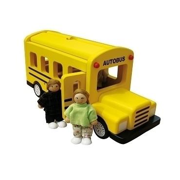 Autobus avec 3 passagers - Jeu d'Imitation - 3+ Jouet en Bois