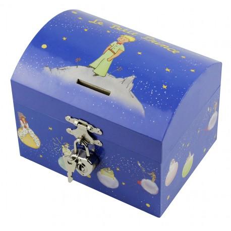 Tirelire à Musique Le Petit Prince© Etoiles - Bleu - Figurine Petit Prince