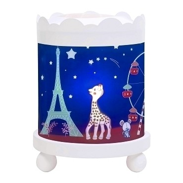 Night Light - Magic Merry Go Round Sophie the giraffe© Paris - White 12V