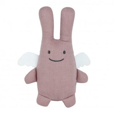 Angel Bunny Comforter 20Cm - Old Pink Linen
