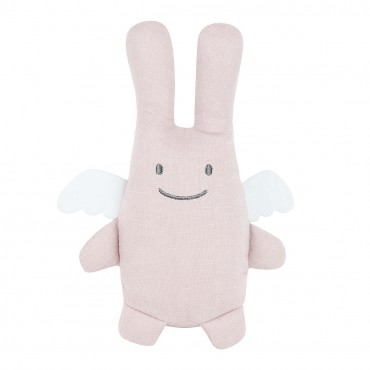 Angel Bunny Comforter 20Cm - Pouder Pink Linen