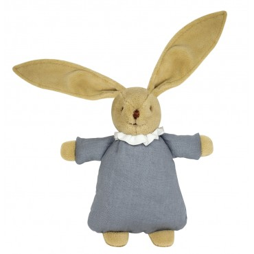 Soft Bunny Fluffy 20Cm - Grey Blue Linen