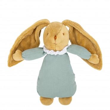 Musical Bunny Fluffy 25Cm - Celadon Green Organic Cotton