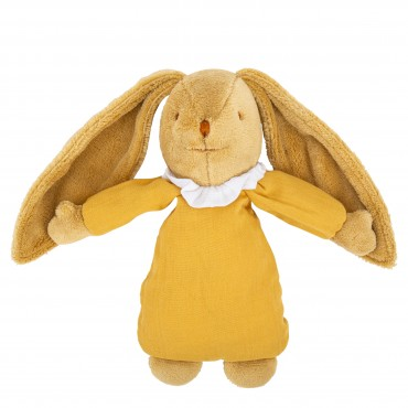 Musical Bunny Fluffy 25 Cm - Curry Organic Cotton