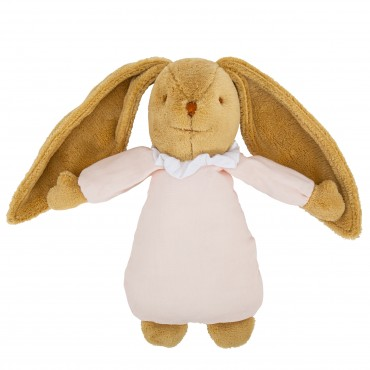 Musical Bunny Fluffy 25Cm - Pouder Pink Organic Cotton