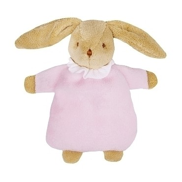 Soft Bunny Fluffy w/Rattle Pink 20Cm