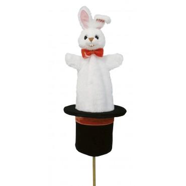 Marotte Lapin dans Chapeau de Magicien - Fabriqué en Europe