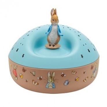 Veilleuse - Projecteur d'Etoiles Musical Peter Rabbit© 12 Cm - piles incluses