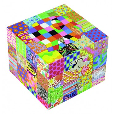 "Musical Cube Box Elmer© ""Classic"" - Figurine Elmer"