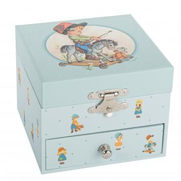 Musical Cube Box Horse - Children Memories Jeanne Lagarde©