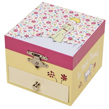 "Musical Cube Box Little Prince© ""Rose"" - Figurine Little Prince"
