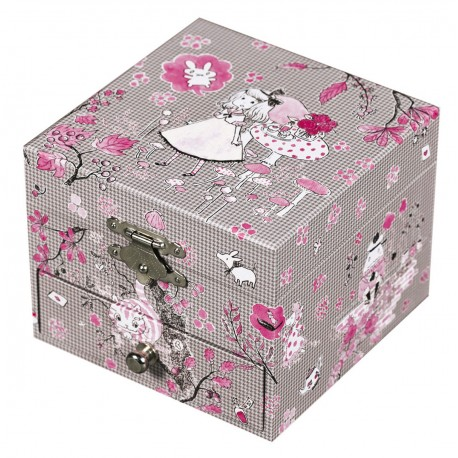 Musical Cube Box Alice - Figurine Ballerina