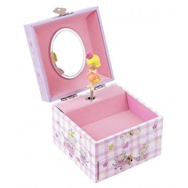 Coffret Musique Cube Princesse - Mauve - Figurine Princesse