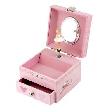 Musical Cube Box Dancer In Tutu - Pink - Figurine Ballerina