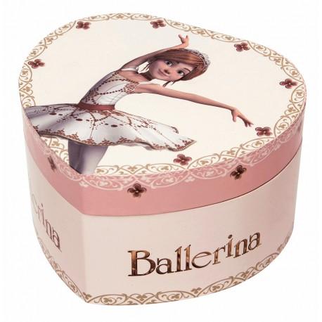 Boite à Musique Cœur Phosphorescent Ballerina©