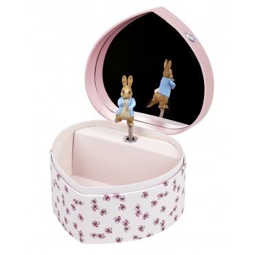 Large Heart Music Box Peter Rabbit©