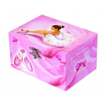 Photoluminescent Music Box Ballerina - Pink - Glow in dark