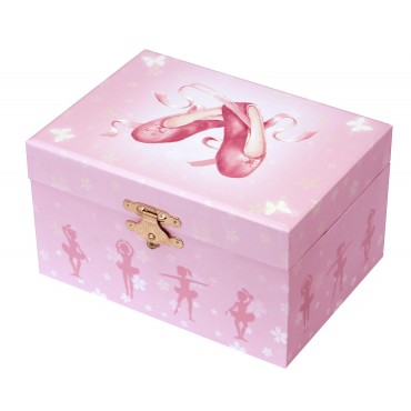 Coffret Musical Phosphorescent Chaussons Ballerine - Rose