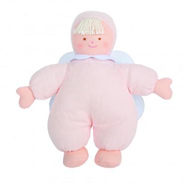 Angel Comforter with Rattle 20Cm - Pouder Pink Organic Bio