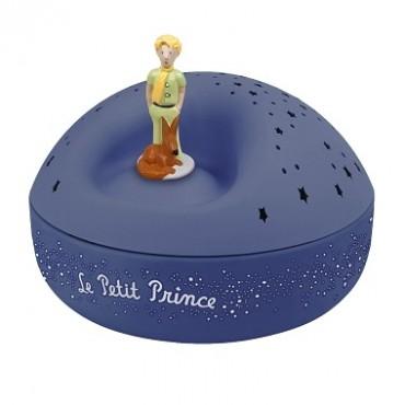 Veilleuse - Projecteur d'Etoiles Musical Le Petit Prince© bleu - piles incluses