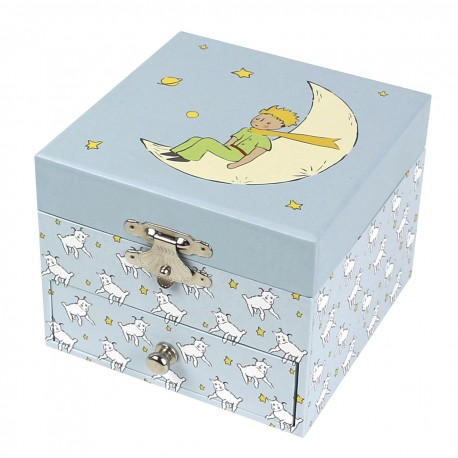 Photoluminescent Musical Cube Box Little Prince© with sheep - Glow in dark