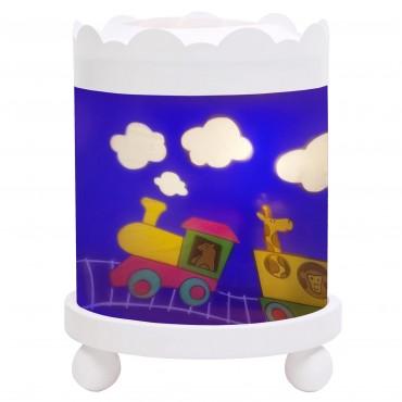 Night Light - Magic Merry Go Round Train - White 12V