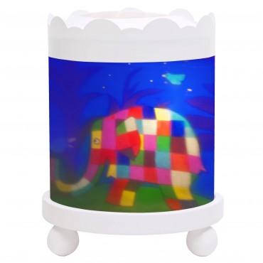 Night Light - Magic Merry Go Round Elmer© - White 12V