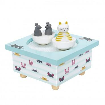 Dancing Music Box Cat & Mouse