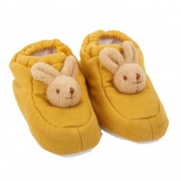 Slippers Bunny 0-2 years - Curry Organic Cotton