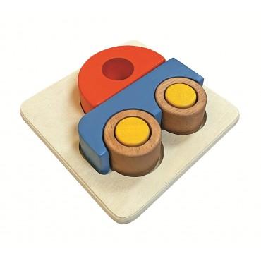 Puzzle en Bois 3D Voiture - Assembler & Empiler - 12M+ Jouet en Bois