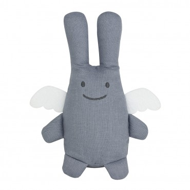 Angel Bunny Comforter 20Cm - Grey Blue Linen